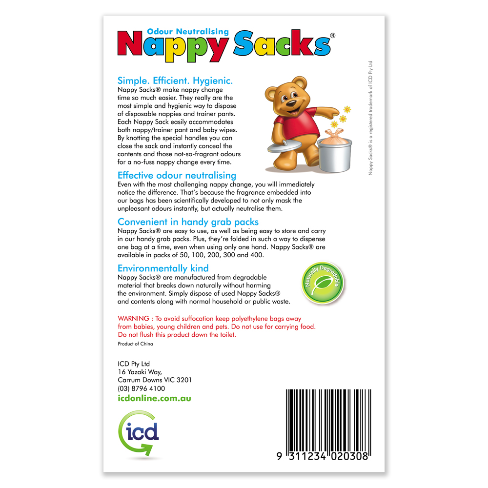 nappy sacks packaging